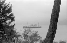 Union steamship [passing Stanley Park]