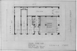 [Photograph of drawing for building at Georgia St.  & Granville St., Vancouver B.C. : ground ...