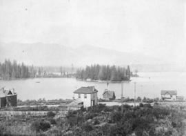 [View of Deadman's Island from Robson Street and Bute Street]