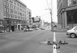 Beatty and Pender [streets looking] east