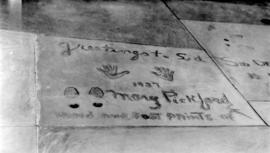 Mary Pickford's feet and hand prints