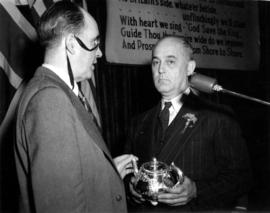 Capt. M. C. Robinson (Vancouver Rotary Club President) and Orson Banfield