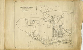 Plan of District Lot boundaries. City of Vancouver, B.C.