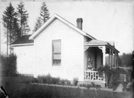 [Side view of James Hutson's cottage on Cemetery (North Arm) Road, D.L. 301