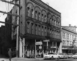 [Exterior of the J.W. Horne building - 300 block Cambie Street]