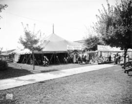Daily Province rest tent on Vancouver Exhibition grounds