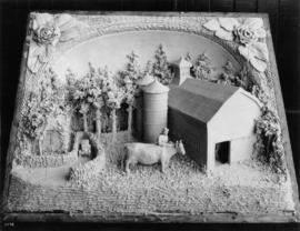 Central Creameries butter carving of farm
