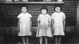 Three Japanese children