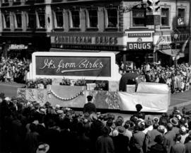 Birks float in 1947 P.N.E. Opening Day Parade