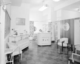 [Interior view of hair dressing salon in the] Martin Hotel, Ocean Falls
