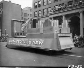 Unit-ized Teleview float in 1953 P.N.E. Opening Day Parade