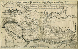 Terminal railway location from Fraser River Bridge, New Westminster, to Spanish Bank, Point Grey,...