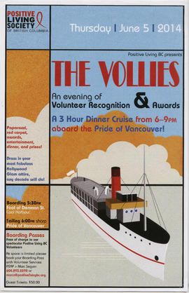 Positive Living BC presents The Vollies : an evening of volunteer recognition and awards : Thursd...