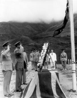 Sai Wan Bay War Cemetery, wreath placing ceremony