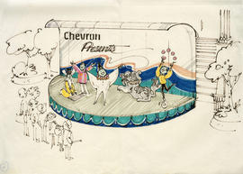 Chevron stage conceptual drawing