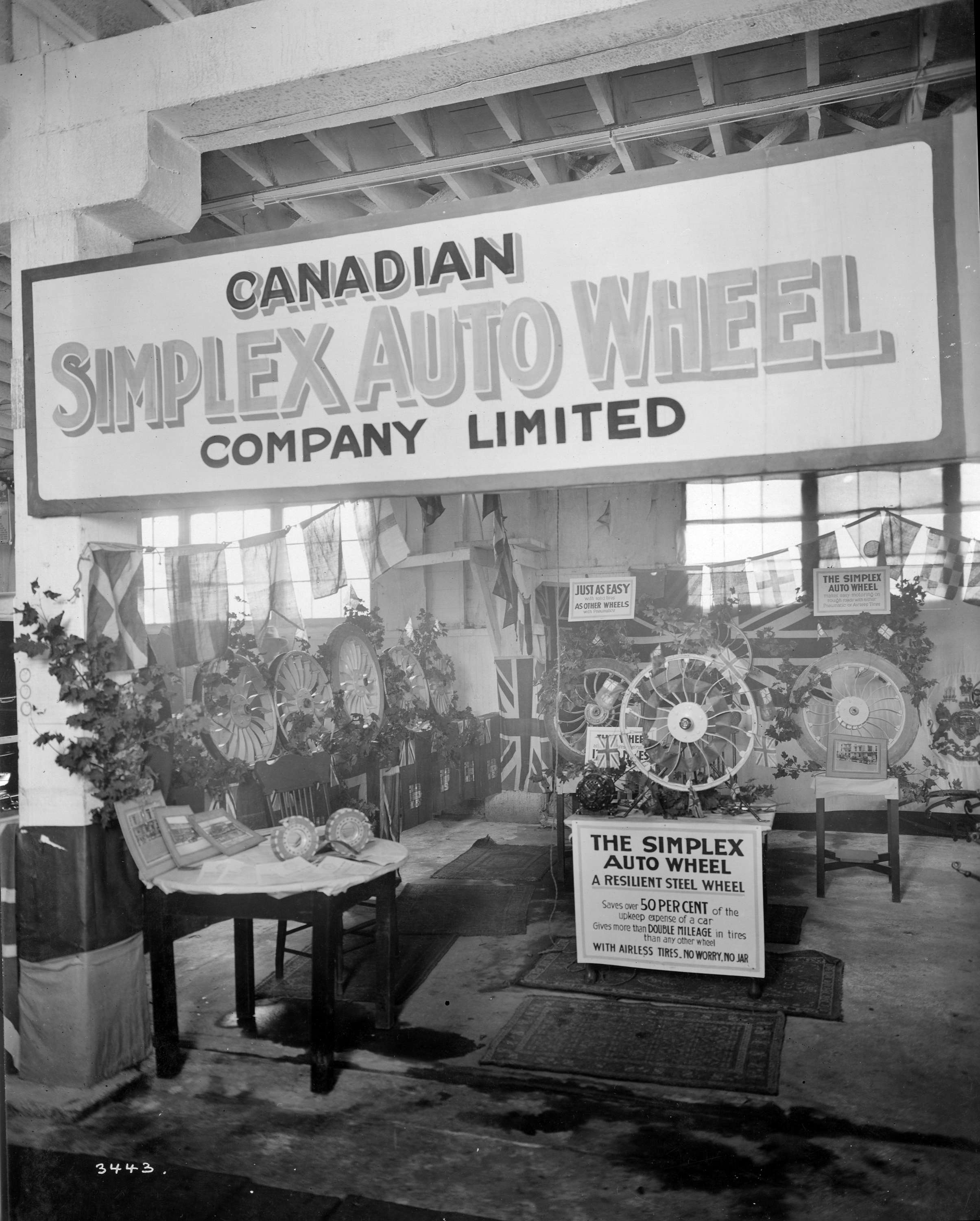 Canadian Simplex Auto Wheel Co  display of wheels - City of