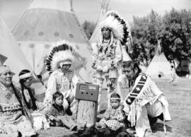 Stoney Indians [at Calgary Stampede grounds, with radio]