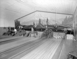 [Bowling alley at] Pacific Mills