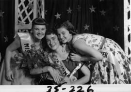 Nancy Hansen, Miss P.N.E. 1954, poses with two other contestants