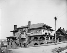 A Vancouver residence [in the West End probably on the northeast corner of Robson Street and Chil...