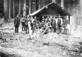 [Workers at the Seymour Creek Gold Mine]