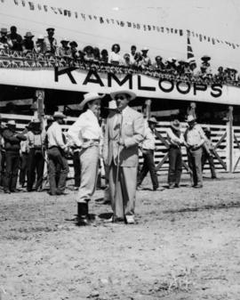 Yvonne De Carlo and Ivan Ackery at the Kamloops Stampede