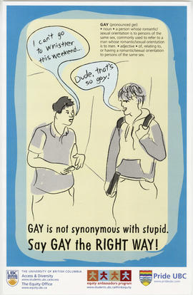 Gay is not synonymous with stupid : say gay the right way