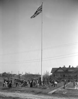 [Point Grey Municipal Hall flagpole]