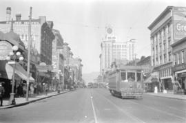[View of Granville Street looking north from Smithe Street]
