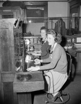 [Telephone switchboard operators at the Mission Telephone Co.]
