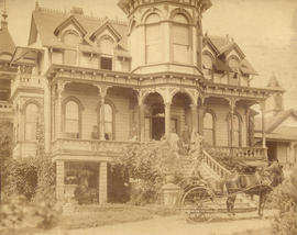 [Exterior of an unidentified rooming house]