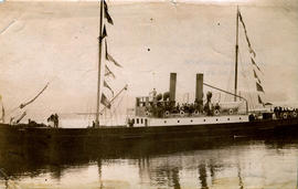 "[Union Steamship Company S.S. ""Cutch"" arrival at Vancouver]"