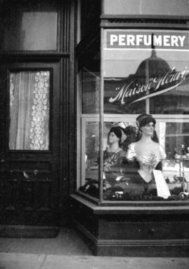 [Storefront window of Maison Henry Perfumery, 630 Granville Street]