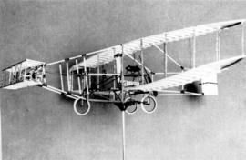 "Replica of the ""Silver Dart"" flown by John A. Douglas McCurdy on February 23, 1909 at B..."