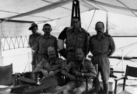 Canadian Liaison Mission to Japan, group portrait in a tent