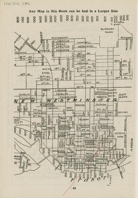 Sectional map and street directory of Vancouver, British Columbia : [McBride Boulevard to Laburnu...