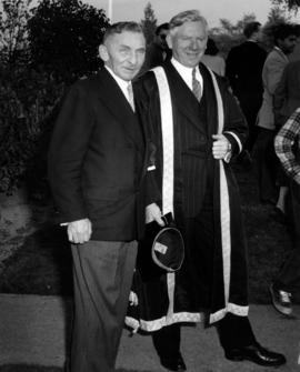 Candid photo of Sherwood Lett and Norman MacKenzie