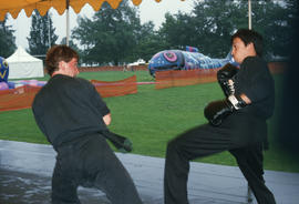 Martial arts demonstration at the Centennial Commission's Canada Day celebration