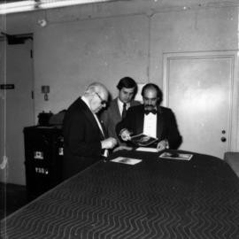 Andrés Segovia, Dan Shadle and unidentified man