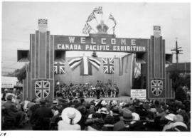 Band performing on Canada Pacific Exhibition outdoor stage