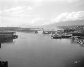 [View of False Creek looking west from the Granville Street Bridge]