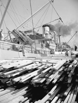 Loading lumber [at] Terminal Dock