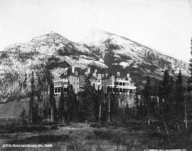 C.P.R. Hotel and Rundle Mountain, Banff