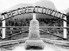 The Great Divide [and the Sir James Hector monument in] Banff National Park