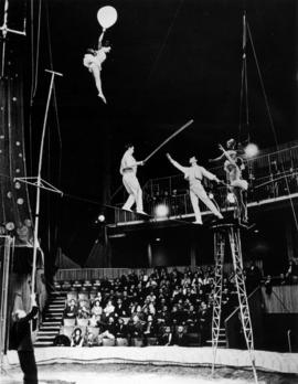 The Moscow Circus : the Voljanskys, breathtaking high wire walkers