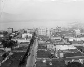 [View from top of Vancouver block looking north along Granville Street]