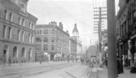 [View of] Granville St. looking north from Pender