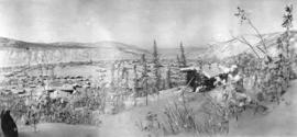 [View of Dawson City in the winter]