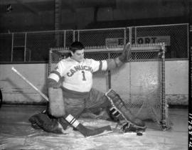 Claude Evans of the Vancouver Canucks, on-ice portrait