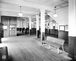 [Union Steamship's passenger terminal showing the interior waiting room]